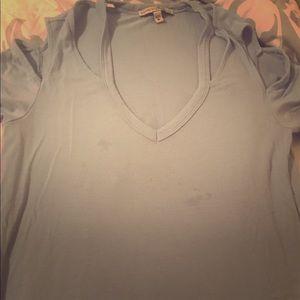 Sky blue off shoulders shirt